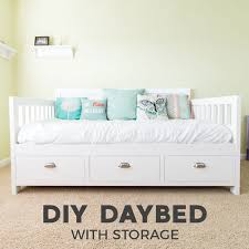 Diy Daybed Frame Diy Daybed With Storage Drawers Size Bed Fixthisbuildthat