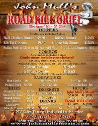 Backyard Restaurant Menu John Mull U0027s Meats U0026 Road Kill Grill Amazing Pulled Pork Brisket