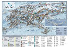 Map Of St Martin Chalet Des Anges Ski Talini