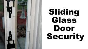 Sliding Patio Door Security by Sliding Glass Door Security Youtube