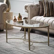 Magnussen Sofa Table by Magnussen Copia Metal Oval Cocktail Table Hayneedle