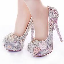 wedding shoes pink aliexpress buy rhinestone flower pink wedding shoes stiletto