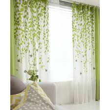 Curtains Pink And Green Ideas Curtain Ideas Awesome Of Green And White Leaf Print Polycotton