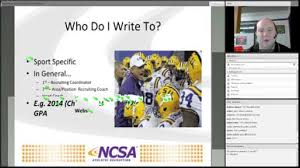 ncsa recruiting class example emailing coaches youtube