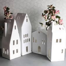 porcelain tea light holder house by nest notonthehighstreet
