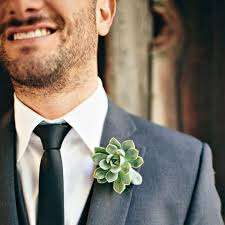 succulent boutonniere succulent wedding flowers boutonniere ideas for your groom brides