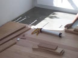 glue installation bamboo hardwood floor concrete