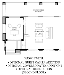 Deck Floor Plan by Toll Brothers At Adero Canyon The Sullivan Az Home Design