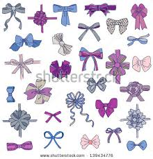 bows and ribbons set gift bows ribbons design scrapbook stock vector 139434776