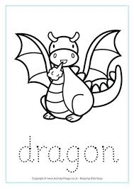 dragon maths facts colouring