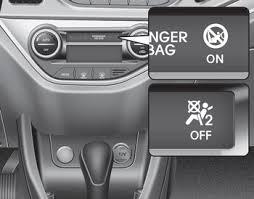 siege auto passager avant kia picanto interrupteur on d airbag passager avant airbags