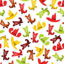 cowboy wrapping paper a whimsical vector illustration of cowboy hats and cowboy boots