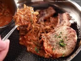 comment cuisiner le plat de cote côte de porc charcutière fiche recette avec photos
