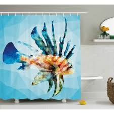 Shower Curtains With Fish Theme Fishing Themed Shower Curtain Wayfair