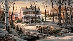 terry redlin annual limited edition christmas print 2008 print