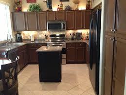 Cream Kitchen Cabinets With Chocolate Glaze Rustoleum Cabinet Transformations Gunstock Kitchen Redo
