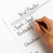 kaitlin style calligraphy worksheet u2014 crafthubs