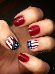 Nail Art Designs July 4 Lacquered Me Happy 4th Of July