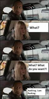 The Rock In Car Meme - the rock parks the car in race to witch mountain meme