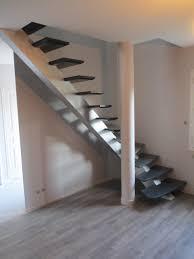 escalier peint en gris limon poutre 1 4 tournant atelier glotin à pontchateau
