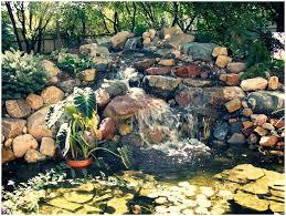 Waterfall Backyard Backyards Innovative Build A Backyard Pond And Waterfall 30