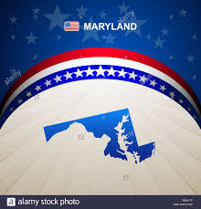 maryland map vector maryland map vector background stock vector illustration