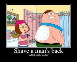Shaving Meme - back shaving
