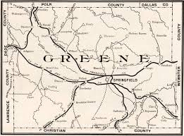 missouri county map with roads greene county missouri 1904 historical map reprint roads and