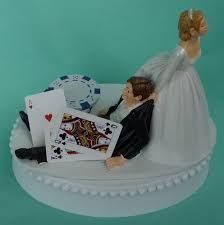 themed wedding cake toppers chips blackjack card themed wedding cake topper