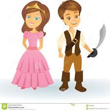 cute cartoon princess and pirate kids stock photos image 29962983