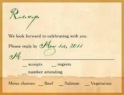 wedding invitations rsvp wording sle invitation card with rsvp choice image invitation sle