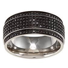 black diamond band stainless steel men s 1 2ct tdw black diamond wedding band free
