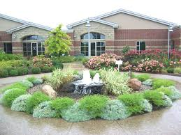 circle fountain in driveway water fountain landscaping ideas water