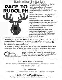 Water Challenge Steps Race To Rudolph Walking Challenge Coming Soon The Bluffton Icon