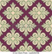 stock illustration of kazakh pattern csp8384338 search eps clip