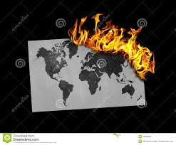 Flag Burning Legal Flag Burning World Map Stock Illustration Image Of Fire 49589087
