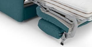 Memory Foam Mattress Sofa Bed by Fletcher 3 Seater Sofa Bed With Memory Foam Mattress Mineral Blue