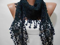 lace accessories navy blue lace scarf shawl bridal accessories cowl scarf navy