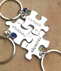 Mother Daughter Gifts Mother Daughter Puzzle Key Chains Gifts