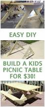 Woodworking Plans For Picnic Tables by Best 25 Kids Picnic Table Ideas On Pinterest Kids Picnic Table