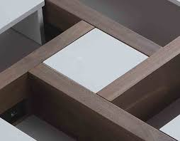 modern designer coffee tables modern designer coffee table evora white lacquer u0026 walnut