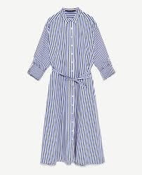 contrasting striped dress dresses woman zara united states