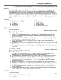 Sample Of Resume For Mechanical Engineer by Mechanical Engineer Cv Example For Engineering Livecareer