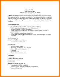 Machinist Resume Template 8 Machinist Resume Budgets Examples