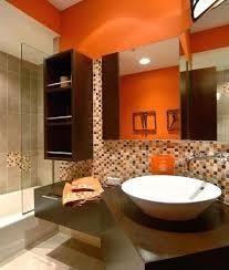 orange bathroom decorating ideas orange bathroom ideas bathroom modern gray floor bathroom idea in