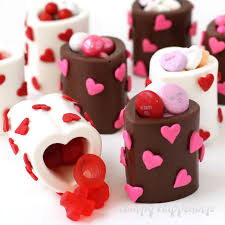chocolate heart candy chocolate heart cups filled with s day candy