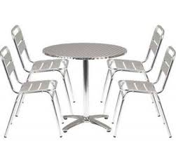Aluminium Bistro Chairs Outdoor Aluminium Bistro Table Chairs Set Cafe Reality