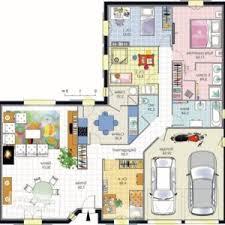 plan maison plain pied en l 4 chambres plan maison en l plan de maison une maison sous le soleil