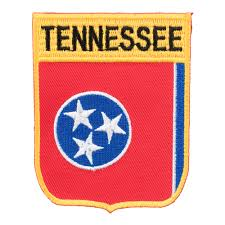 Tennesse Flag Tennessee State Flag Shield Patch 50 State Flag Patches