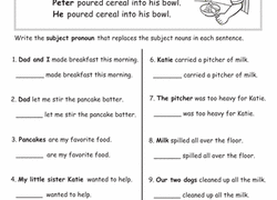 pronouns worksheets  educationcom with worksheet grammar basics subject pronouns from educationcom